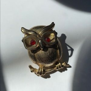 Vintage Coventry Professor Owl Brooch